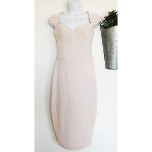 ASOS | Blush Bustier Midi Bodycon Dress